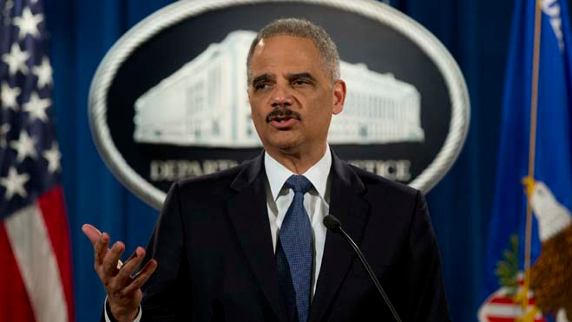 March 4, 2015: Attorney General Eric Holder speaks at the Justice Department in Washington.