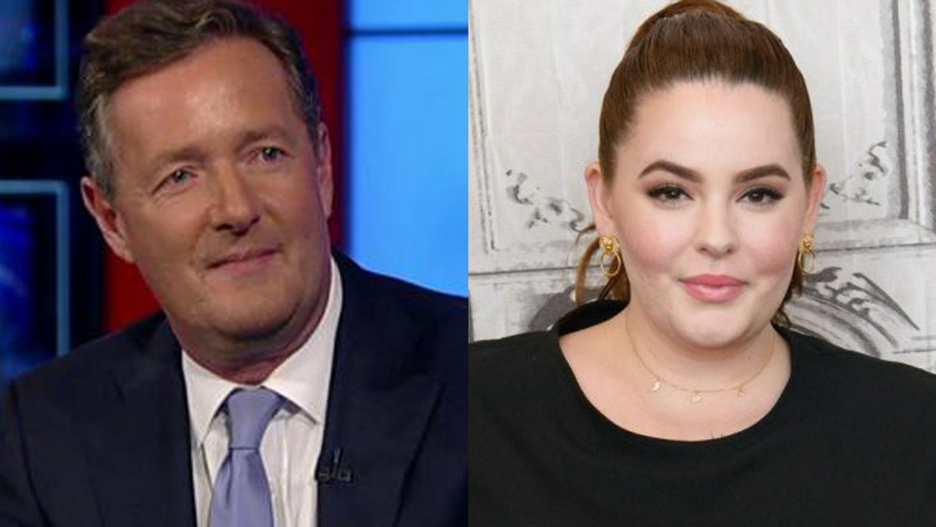 Tess Holliday responds to Piers Morgan's comments about her figure via Twitter.