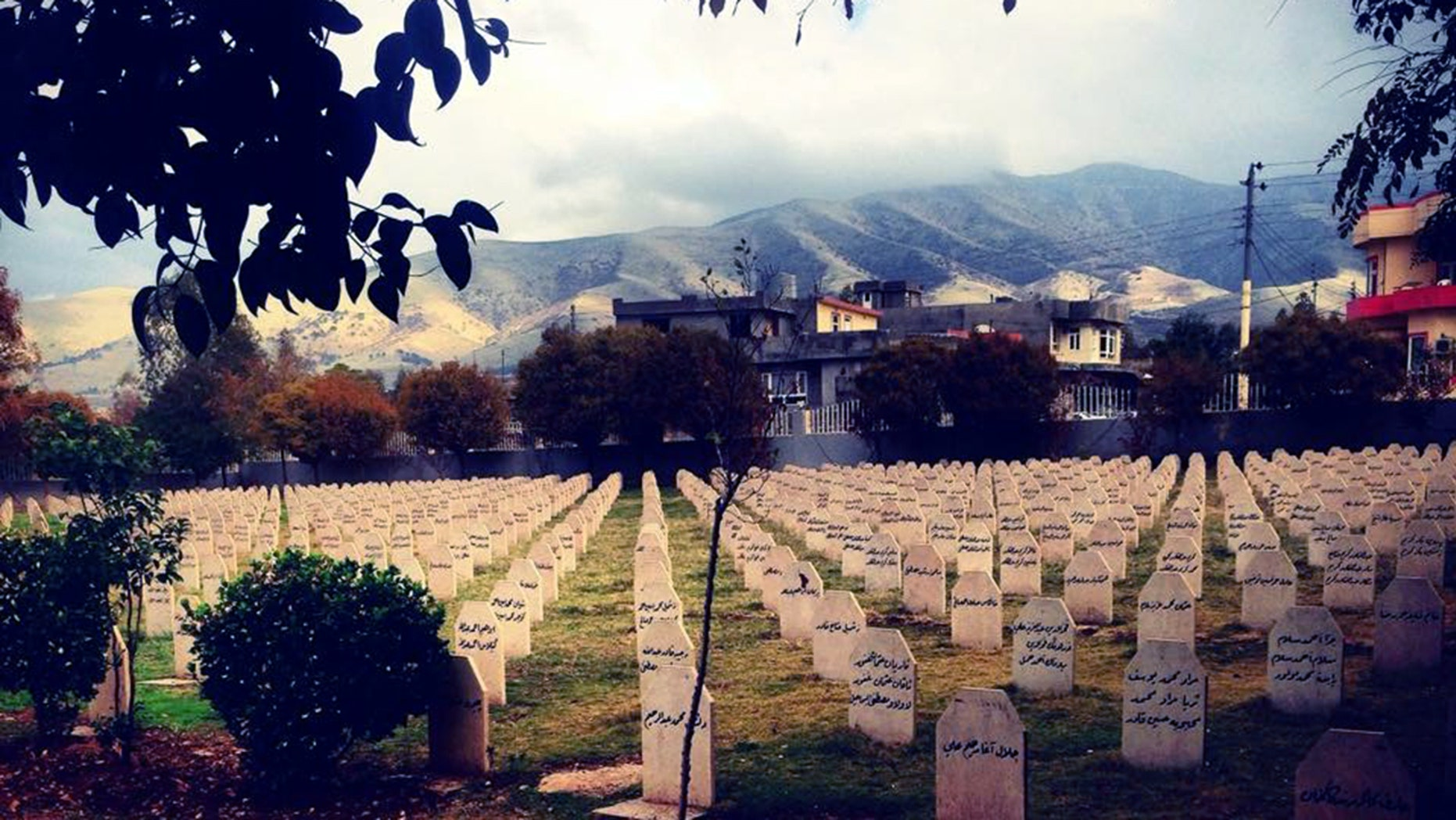 A graveyard contains the remains of many Iraqi Kurds killed in poison gas attacks by the Saddam Hussein regime.
