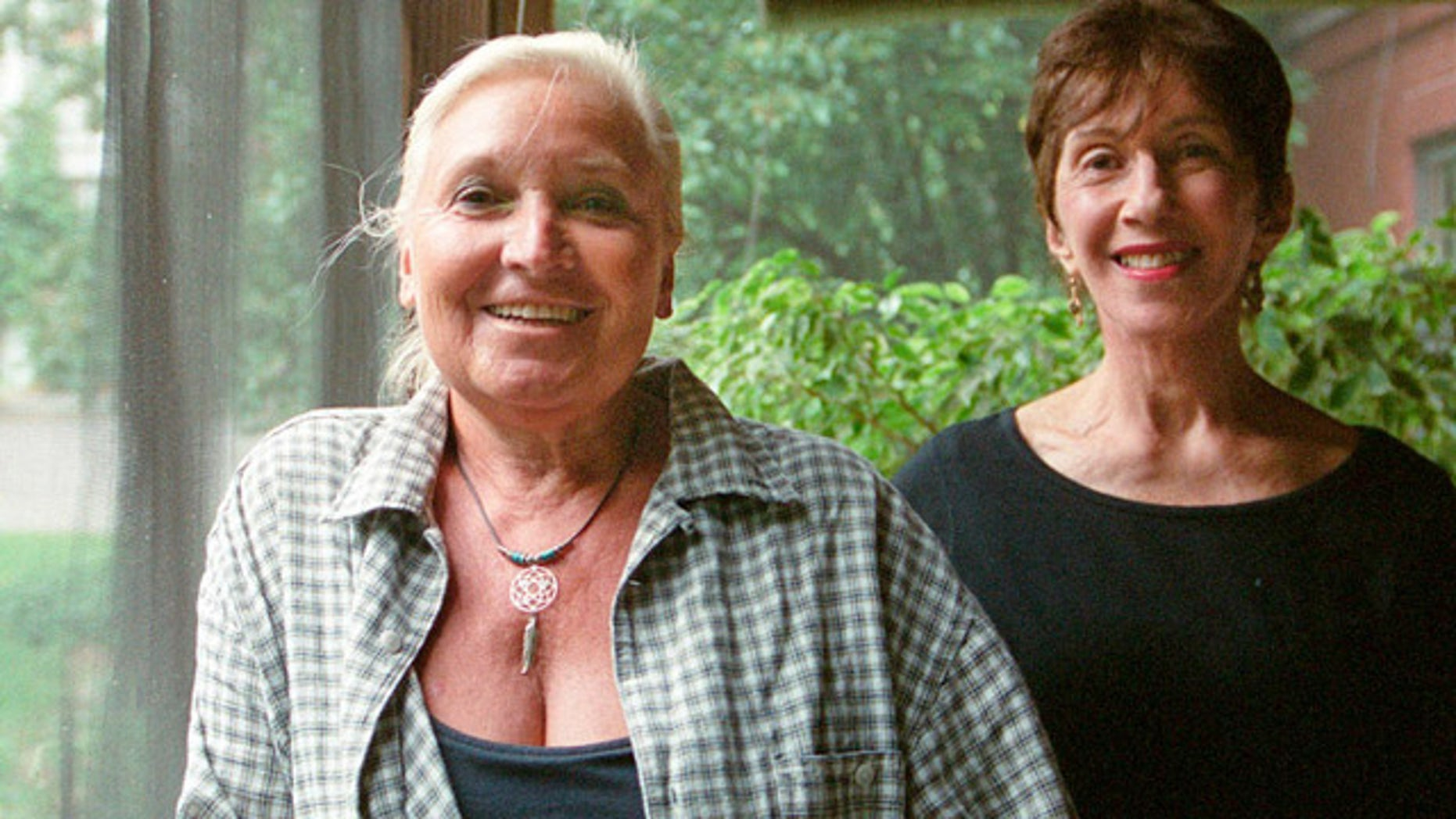 This undated photo shows Misha Defonseca, left, and Vera Lee, co-authors of 'Misha: A Memoire of the Holocaust Years' (AP)