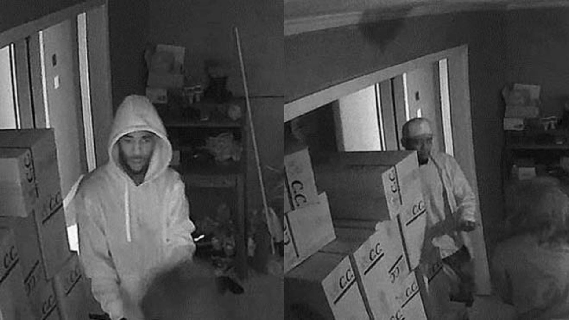 Surveillance images of two suspects in a deadly home invasion in Gwinnett, Georgia, Sept. 16. (Gwinnett Police Department)