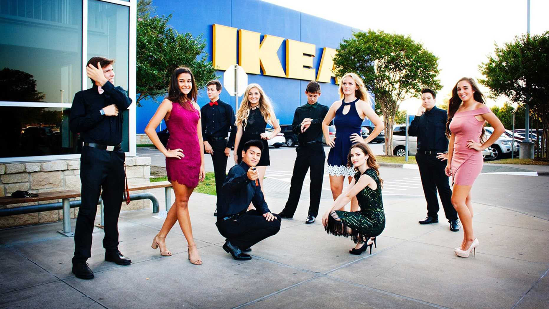 Texas teens went to IKEA for homecoming photos -- and the internet loves it.