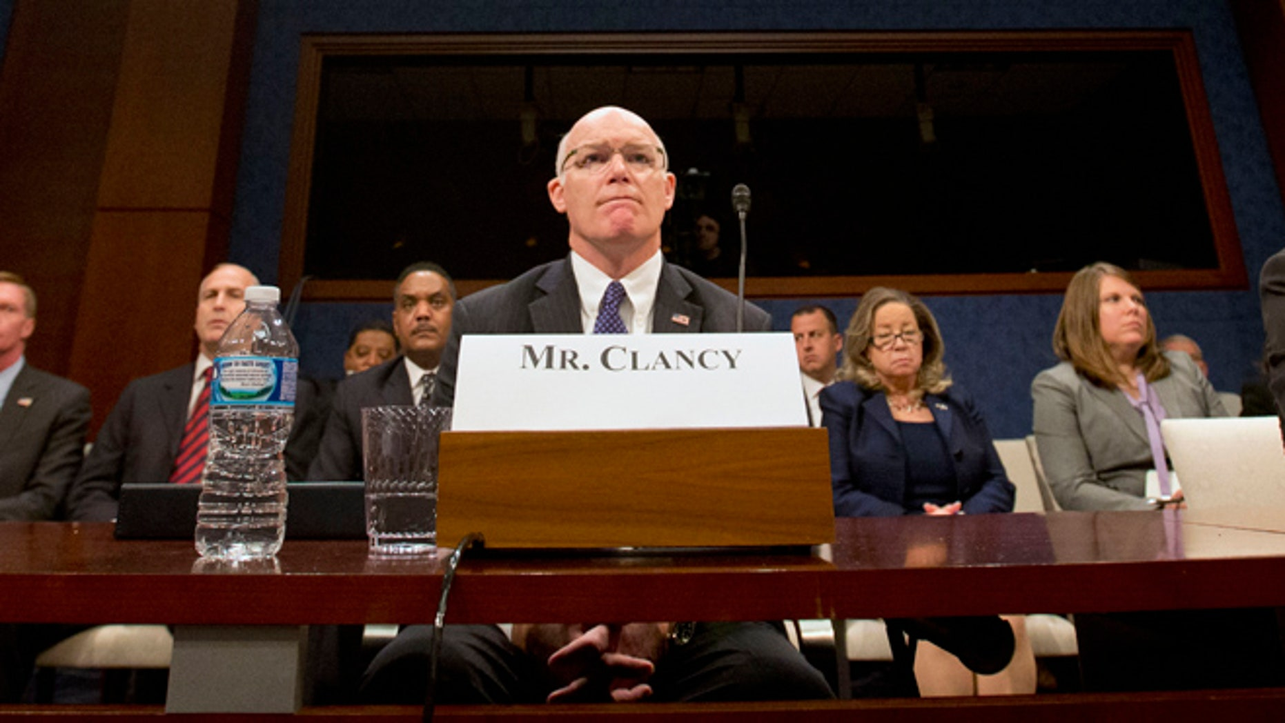 Nov. 17, 2015: Secret Service Director Joseph Clancy listens to members of Congress on Capitol Hill in Washington prior to testifying before the Senate-House Homeland Security joint subcommittees hearing on the Secret Service. (AP)