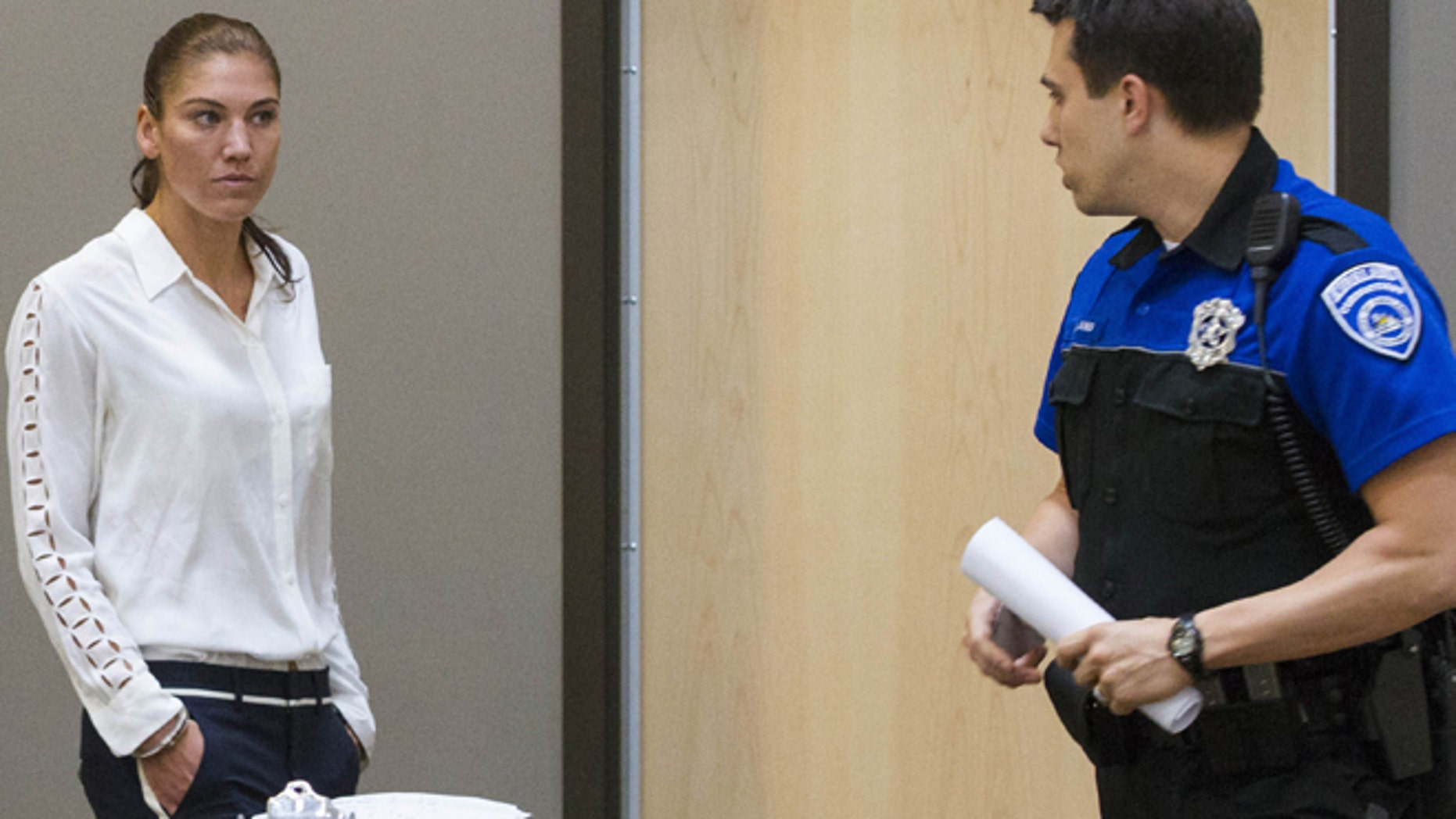 June 23, 2014: U.S. women's soccer team goalkeeper Hope Solo appears in Kirkland Municipal Court in connection with her domestic violence arrest at her sister's home in Kirkland, Wash.