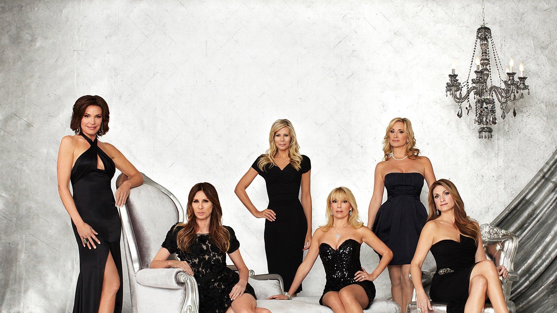 "LuAnn de Lesseps, Carole Radziwill, Aviva Drescher, Ramona Singer, Sonja Morgan and Heather Thomson from ""The Real Housewives of New York."""
