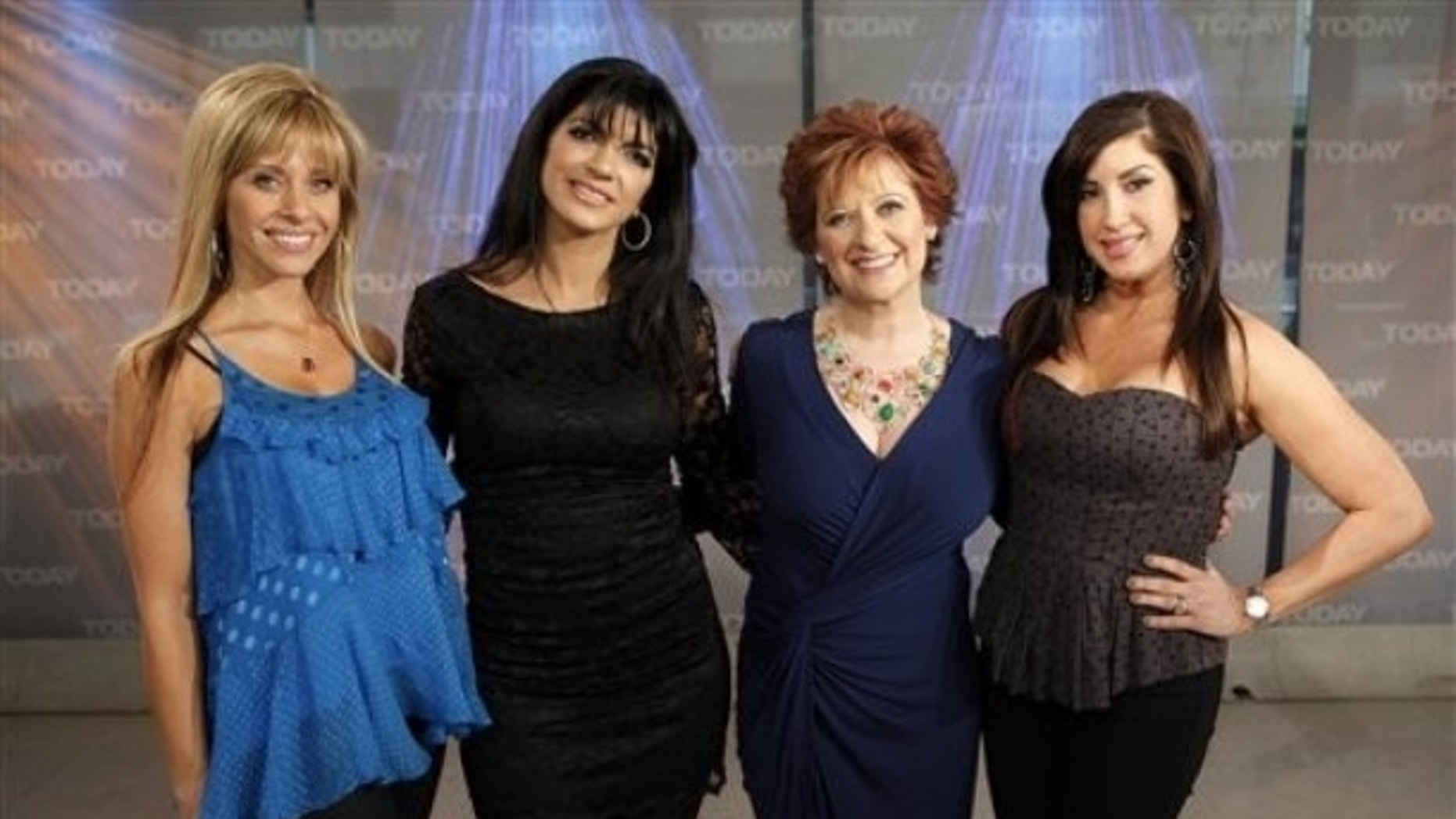 "From left, Dina Manzo, Teresa Giudice, Caroline Manzo and Jacqueline Laurita from ""The Real Housewives of New Jersey"" appear on NBC's ""Today"" show, in New York, on Wednesday, April 28, 2010."