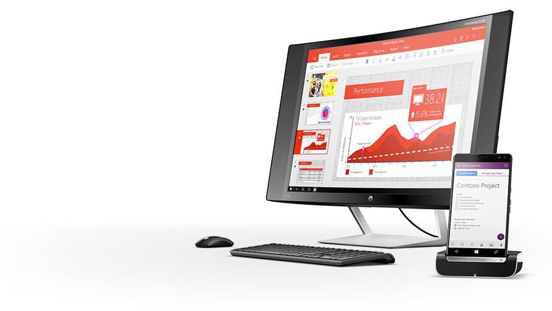 HP Elite x3 with display (HP)