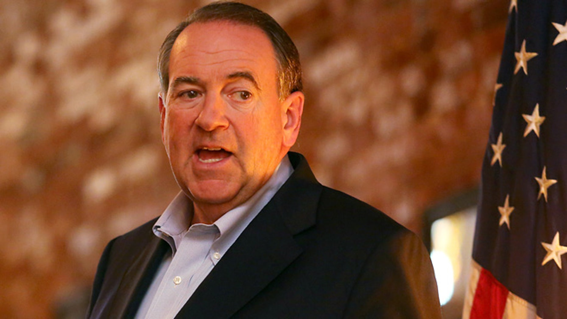 June 2, 2015: GOP presidential hopeful and former Arkansas Gov. Mike Huckabee, speaks to supporters during a stop at Pepper Sprout, in Dubuque, Iowa.