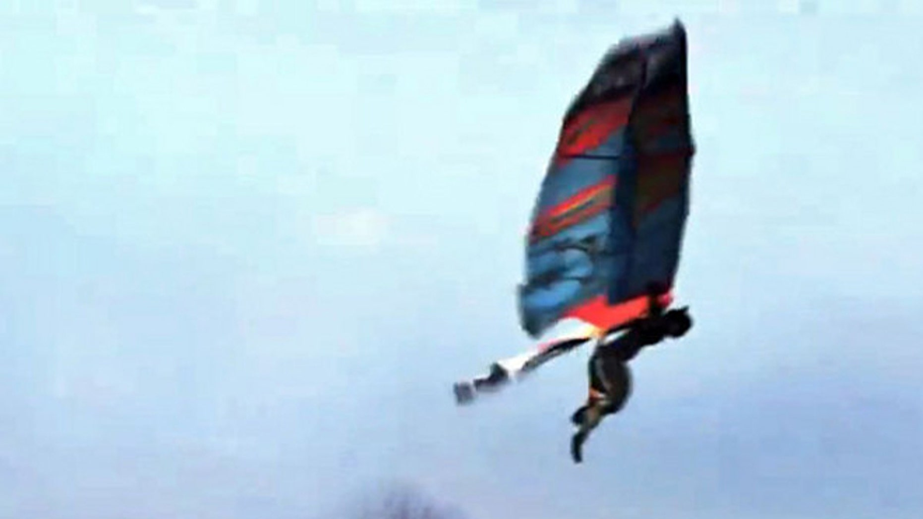 A video purportedly shows a man using homemade wings to soar like a bird. Experts suggest the video is a hoax, however -- a marketing campaign for Nintendo.