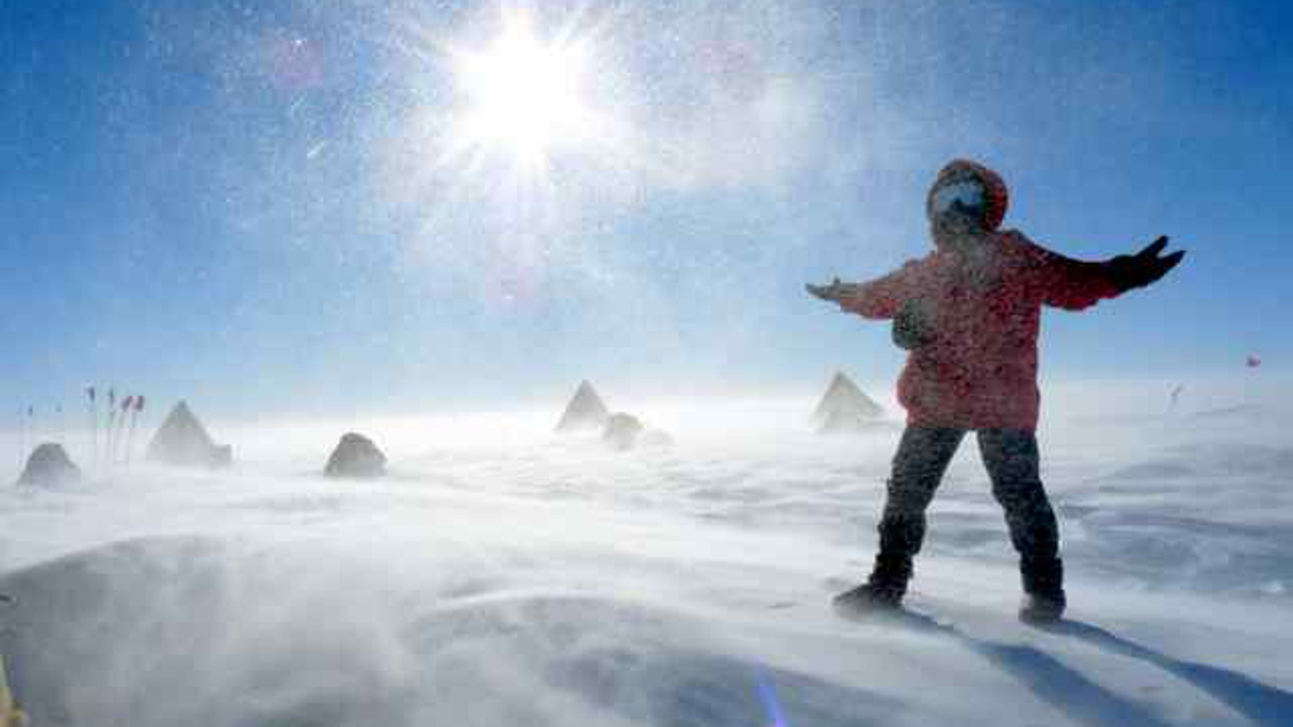 Search for meteorites program places researchers on the ice to live in base camp conditions of wind and snow.