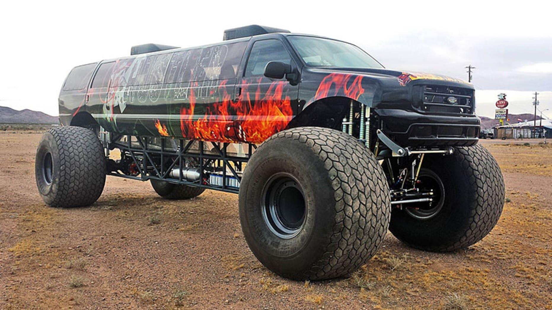 12 Passenger Sin City Hustler Monster Truck On Sale For 1 Million