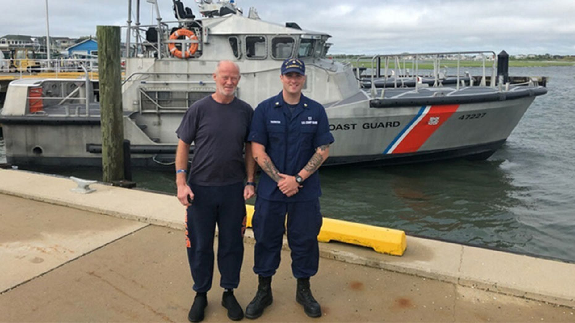 Duncan Hutchison had to be rescued by the Coast Guard off New Jersey after his boat -- which he intended to row all the way to Scotland -- drifted off course because of bad weather.