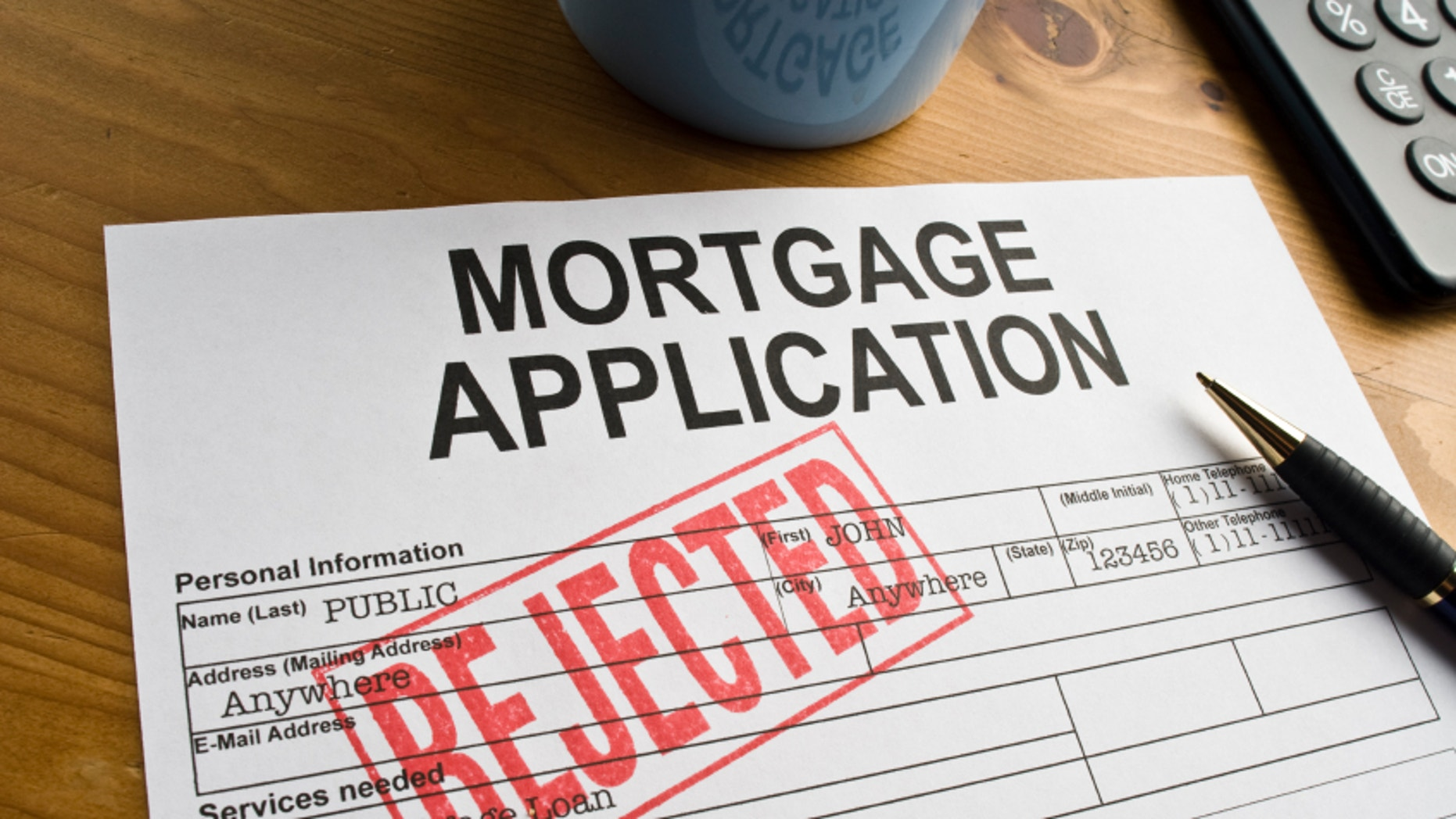 Mortgage application denied