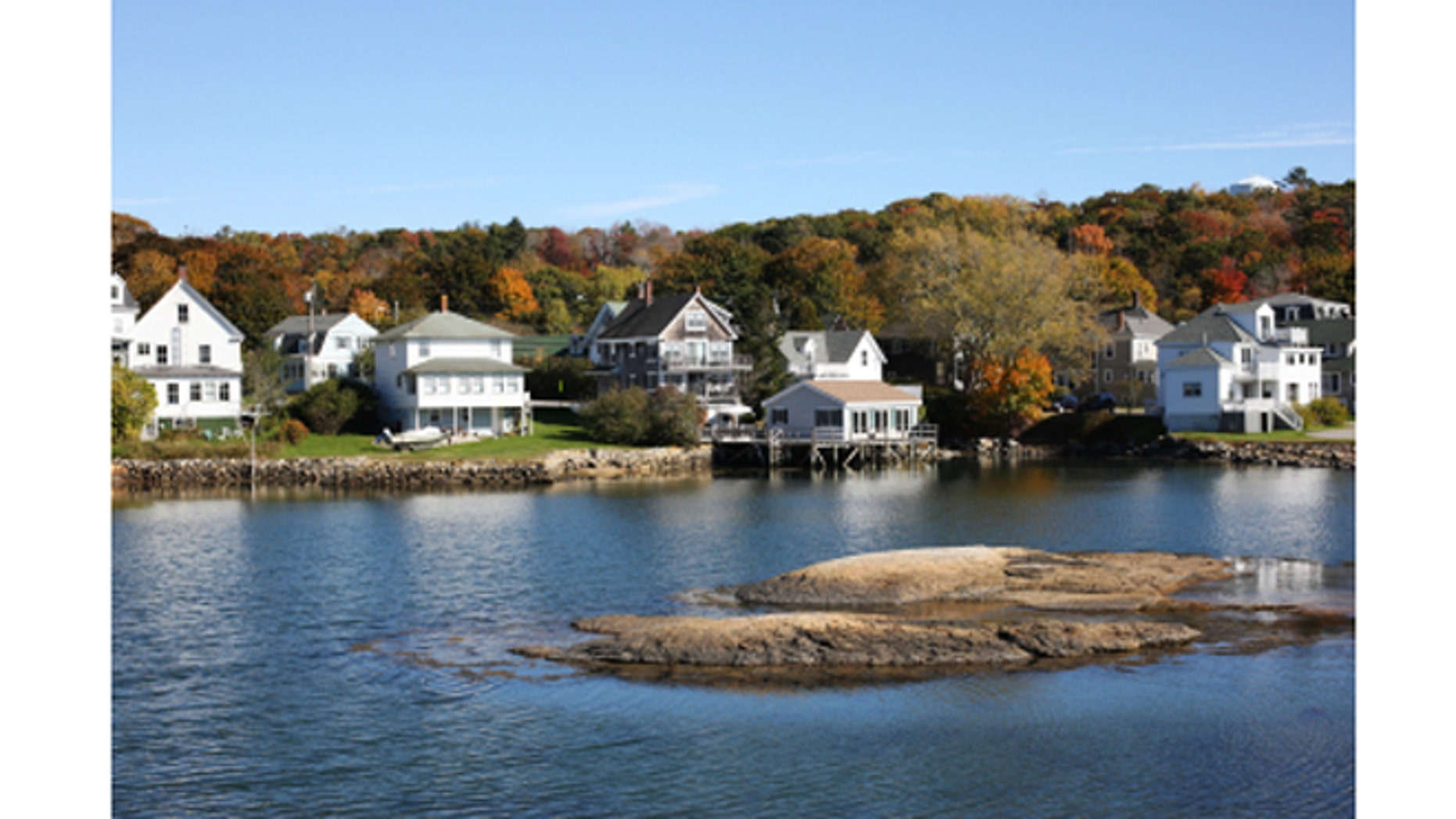 Boothbay Harbor town in Maine.