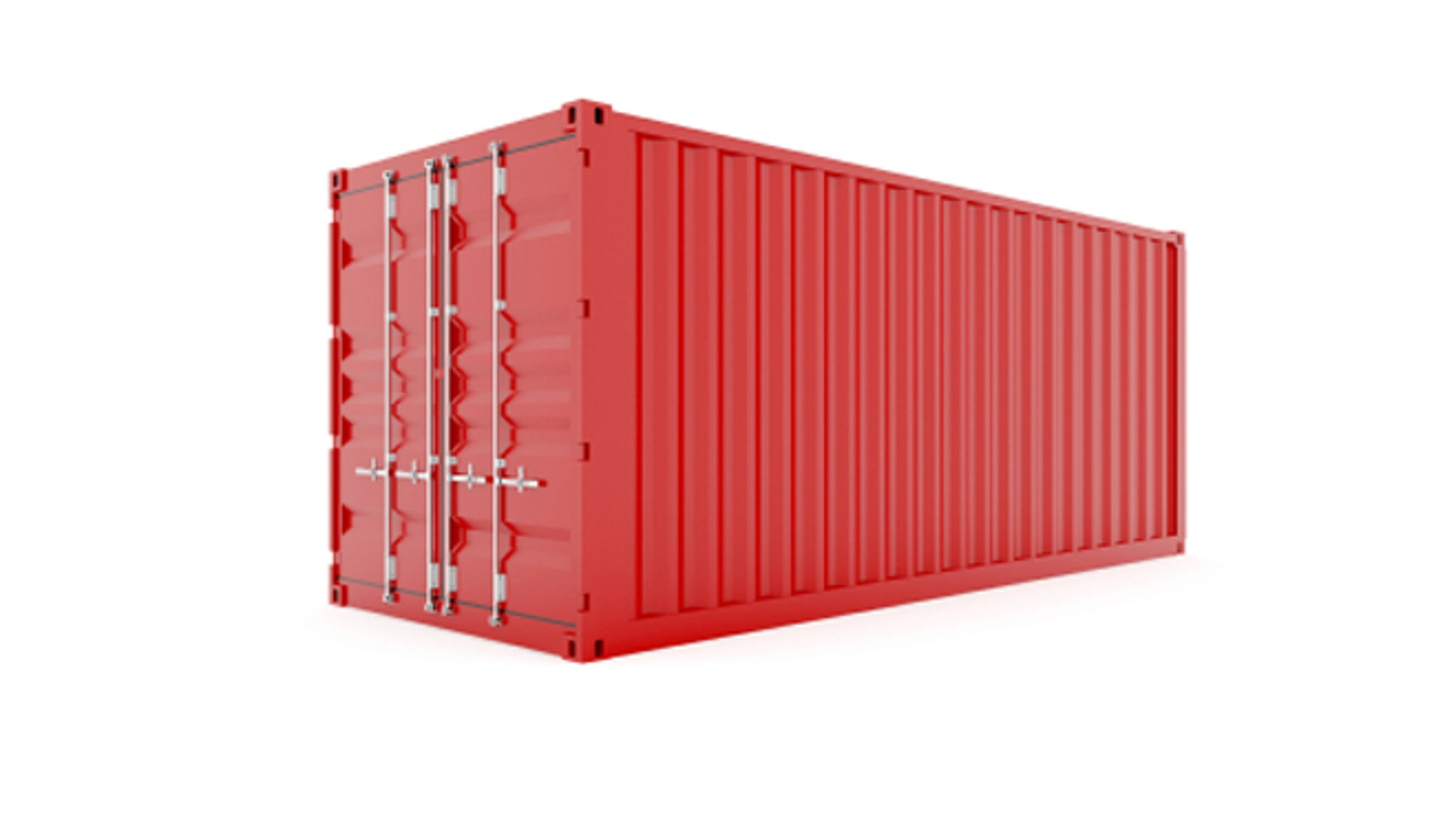 David Boyle and his wife Michele Bertomen built their Brooklyn home out of shipping containers similar to this red cargo container.