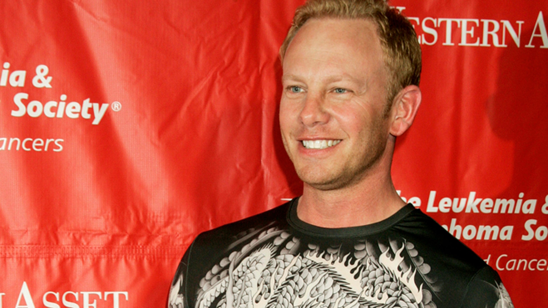 Actor Ian Ziering, who starred in the television series 'Beverly Hills 90210', arrives at the Leukemia and Lymphoma Society's second annual Celebrity Rock 'N Bowl fundraising event in Hollywood on April 6, 2006.