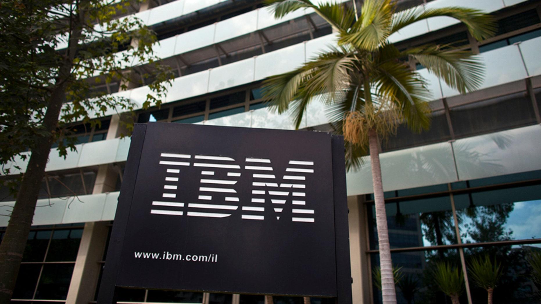 File photo The IBM logo is