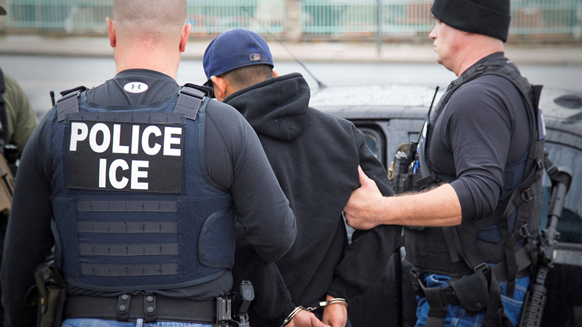 Nearly 100 people were arrested by ICE for a series of crimes, including immigration violations.