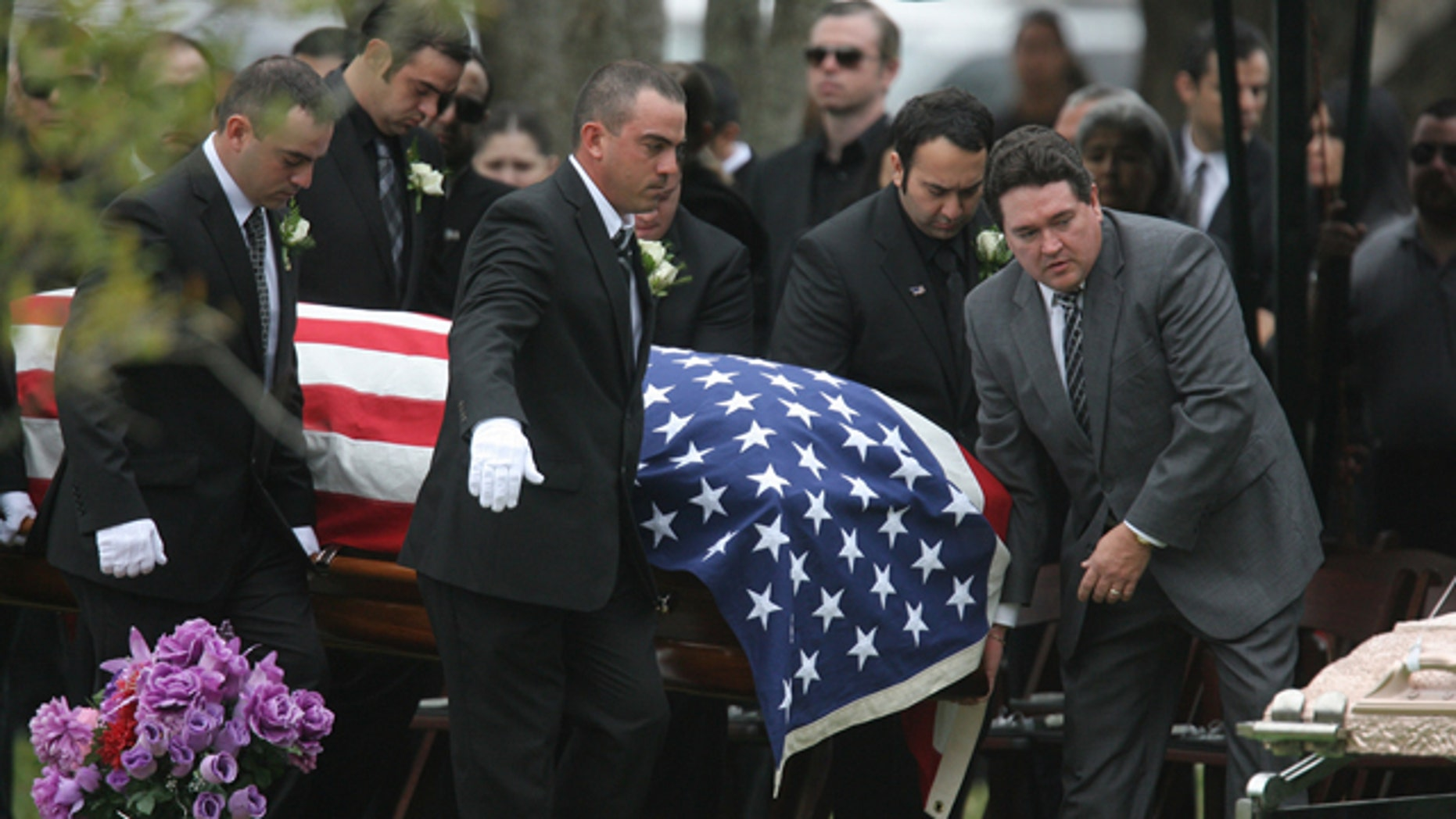 Feb. 22, 2011: Pallbearers carry the casket of ICE agent Jaime Jorge Zapata to the Rose Lawn Garden Memorial cemetery. The Immigration Customs Enforcement officer was shot and killed in Mexico on Feb. 15, 2011 as he travelled with another agent.