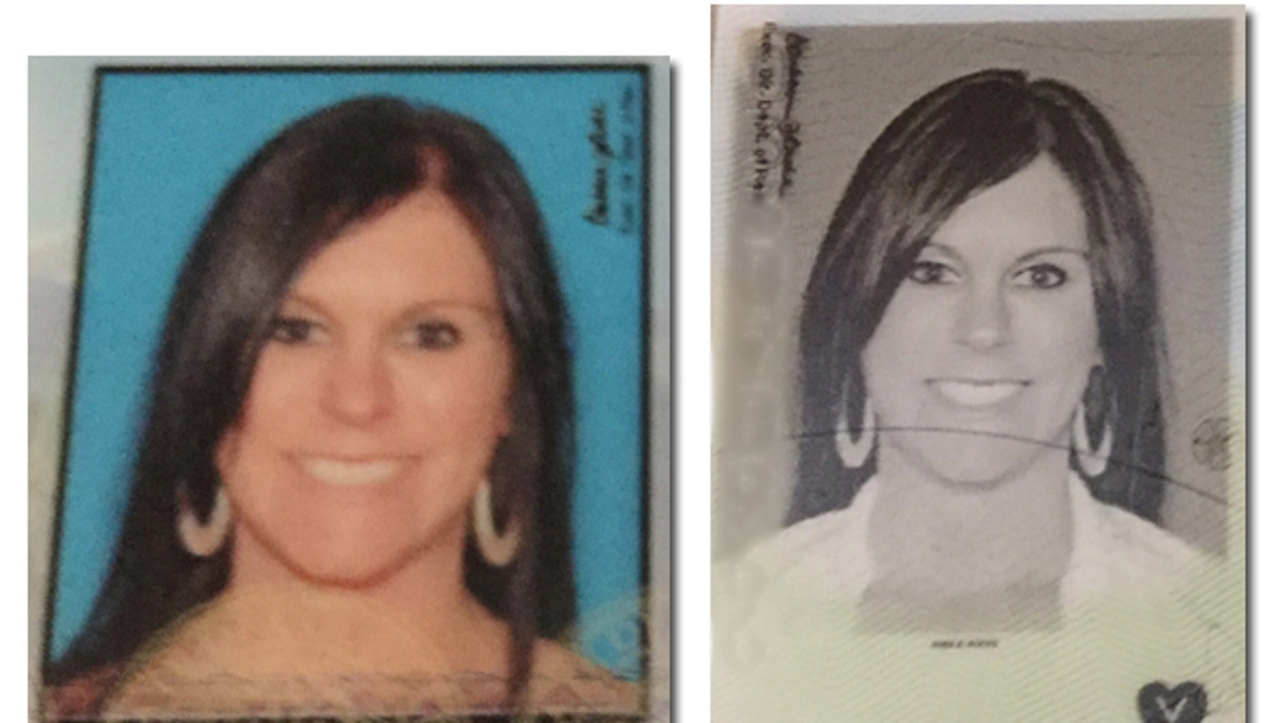 Rhea Ann Rocks of Fort Collins was shocked to find that when she received her new license in the mail after renewing online, that she was wearing what appeared to be a collared white shirt even though she was wear different clothing when she originally took the picture.