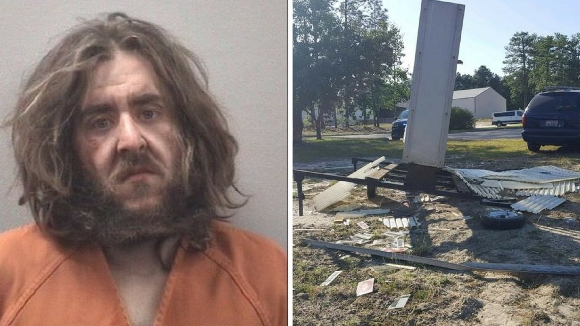"""Marion Samuel Corba, the self-proclaimed """"Messenger of meth,"""" allegedly wrecked his vehicle on the grounds of the South Carolina National Guard Armory."""