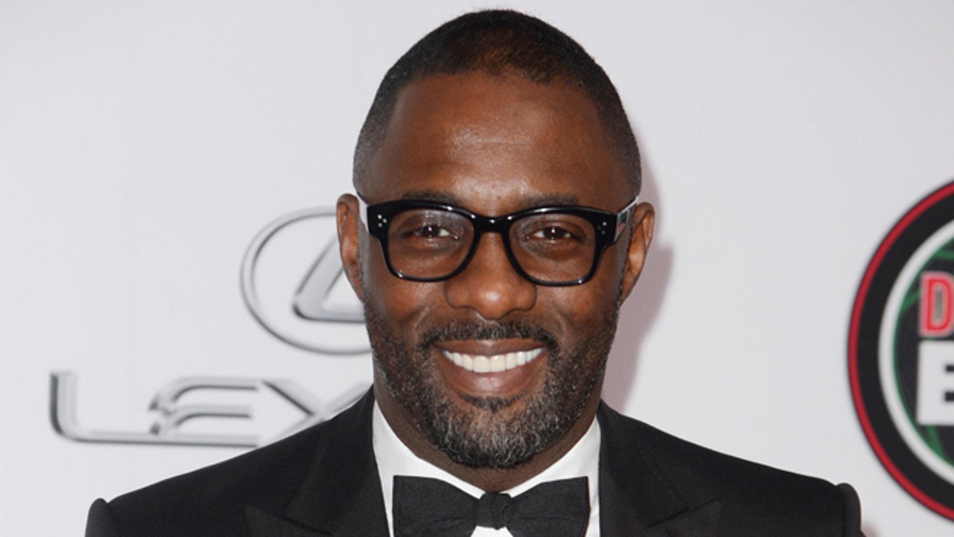 February 22, 2014. Idris Elba attends the 45th NAACP Image Awards in Pasadena, California.