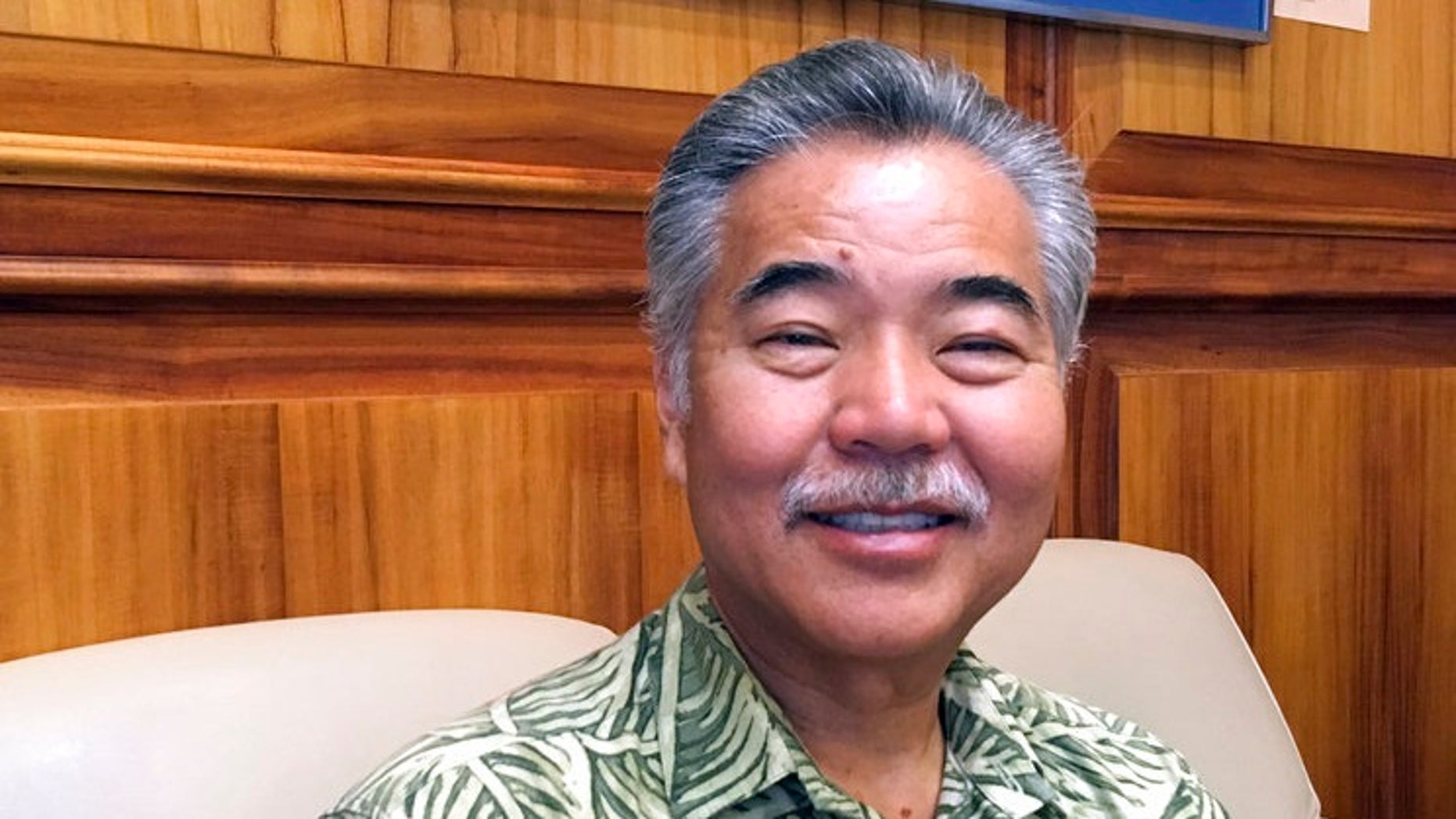 Hawaii Gov. David Ige is seen in Honolulu, Jan. 9, 2018.
