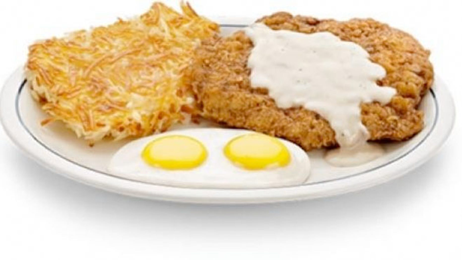IHOP's Country Fried Steak and Eggs breakfast has as many calories and saturated fat grams as five McDonald's Egg McMuffins, says the Center for Science in the Public Interest.