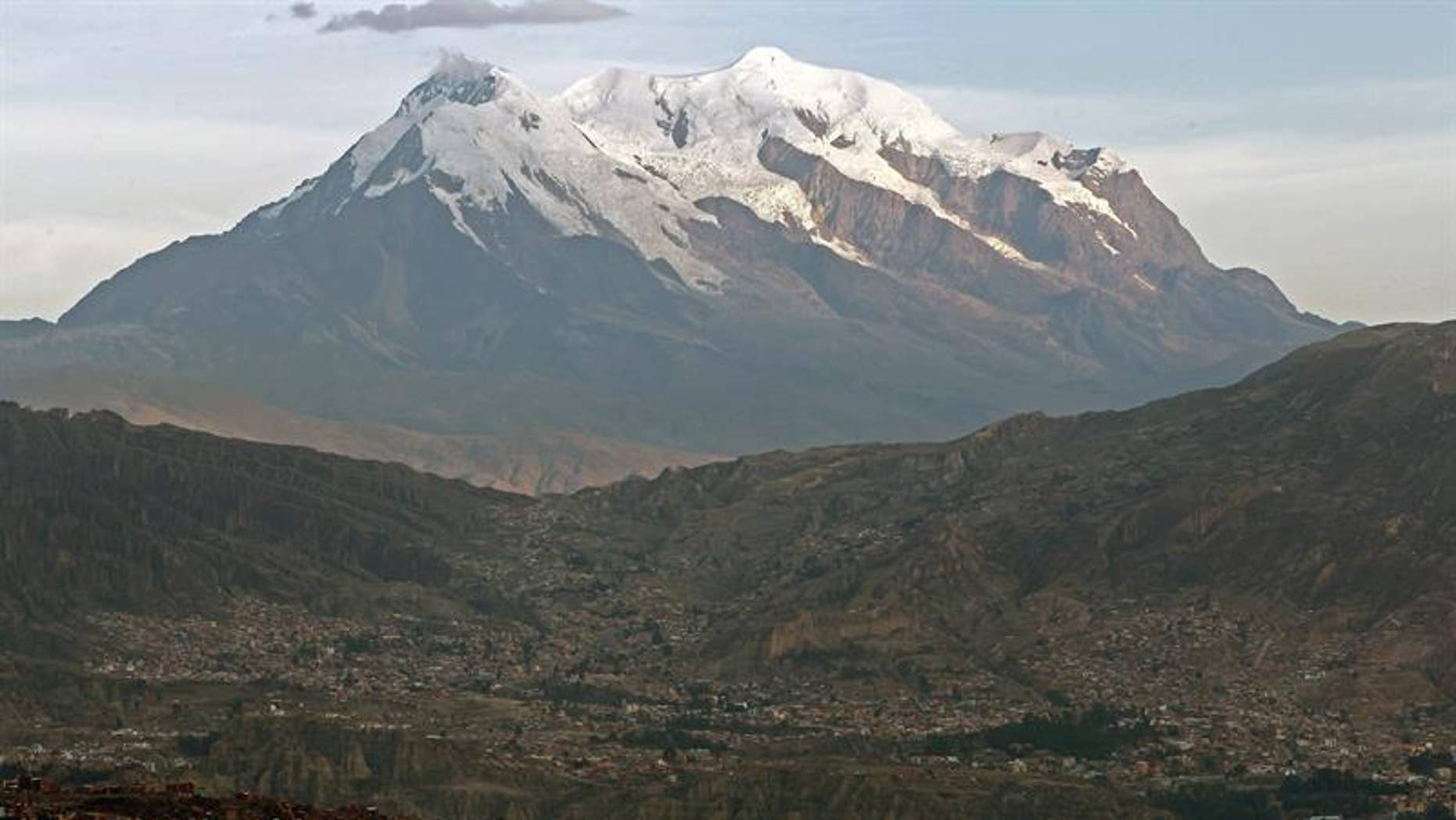 Bolivia's Mt. Illimani is the country's second-highest peak.