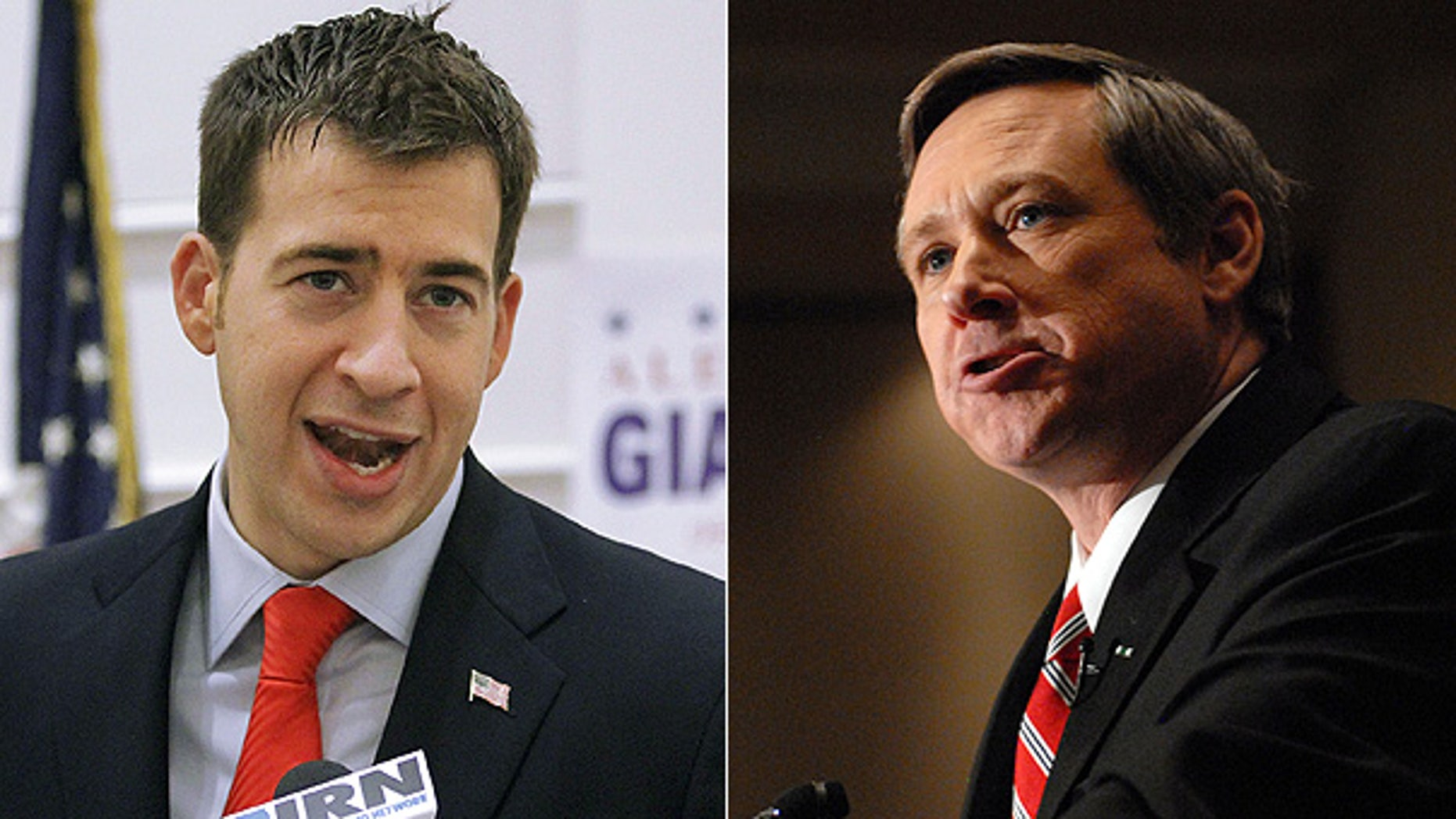 Democrat Alexi Giannoulias, left, and Republican Mark Kirk are running for the U.S. Senate seat once held by President Obama.