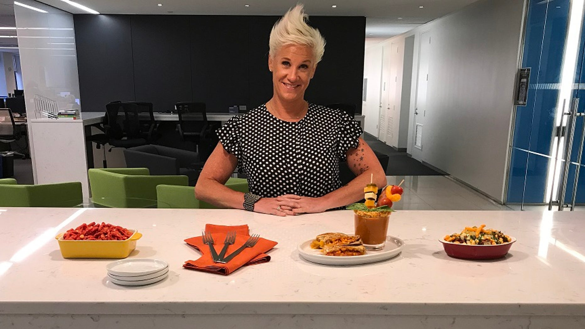 Celebrity chef Anne Burrell debuts some of the dishes from her new Cheetos-inspired pop-up restaurant. The Spotted Cheetah is open only this week in New York.
