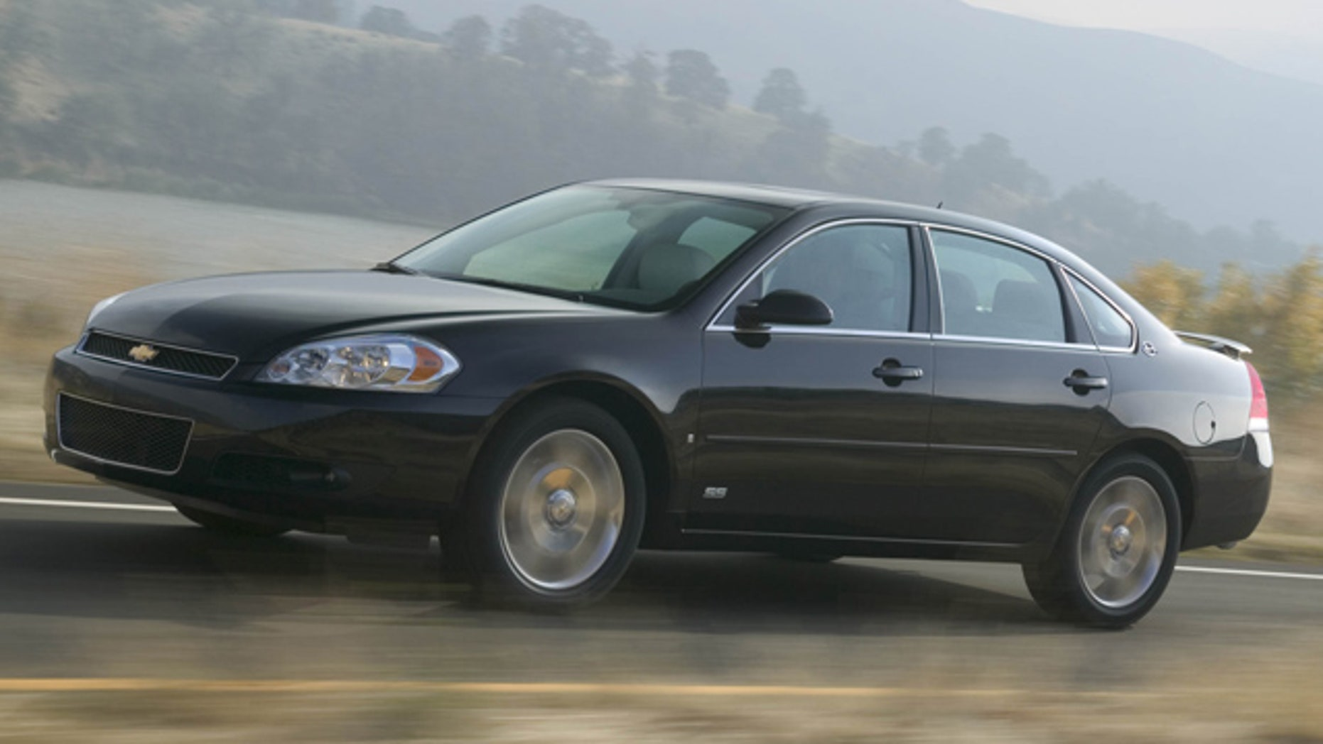 In this undated photo provided by General Motors Co., the 2007 Chevrolet Impala SS, is shown.  A lawsuit, filed the last week of June 2011, claims General Motors Co. fixed a defective part on police versions of the Chevrolet Impala but didn't correct the same problem in hundreds of thousands of other Impalas.(AP Photo/General Motors Co.)