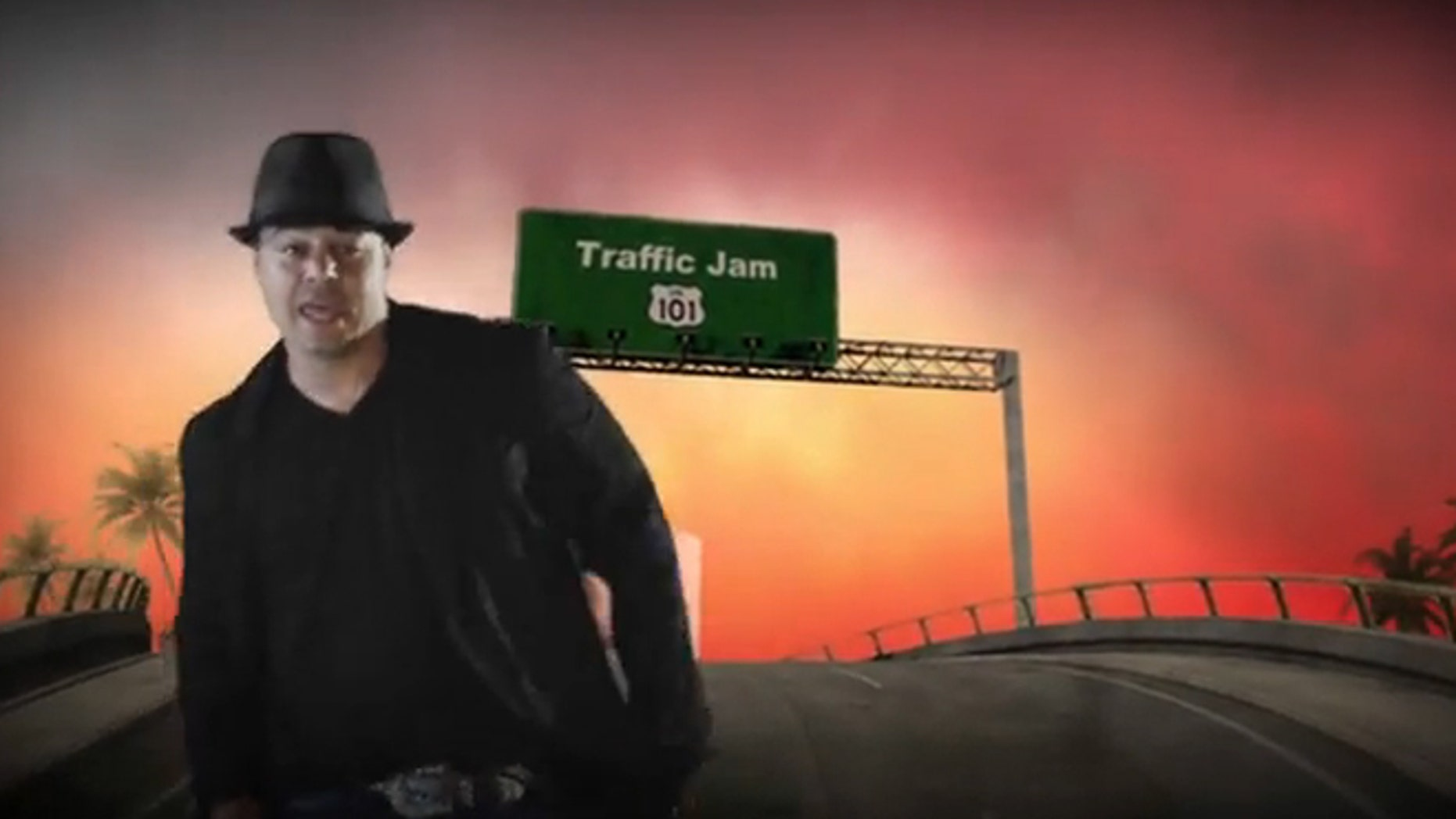 """A scene from the Imperial Stars' """"Traffic Jam 101"""" video is shown."""