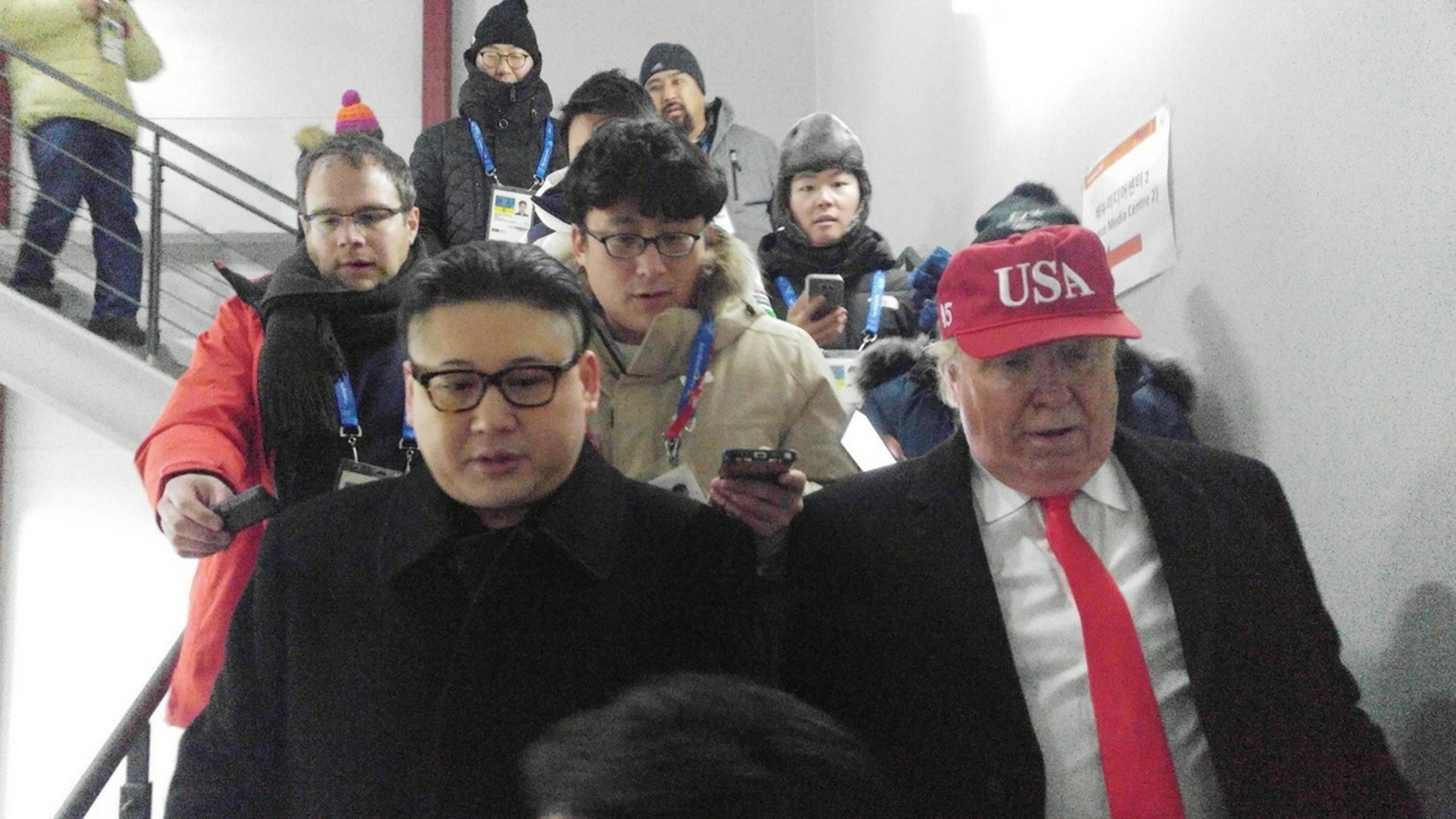 Kim Jong Un and President Trump impersonators were booted from the Olympic Games' opening ceremony.