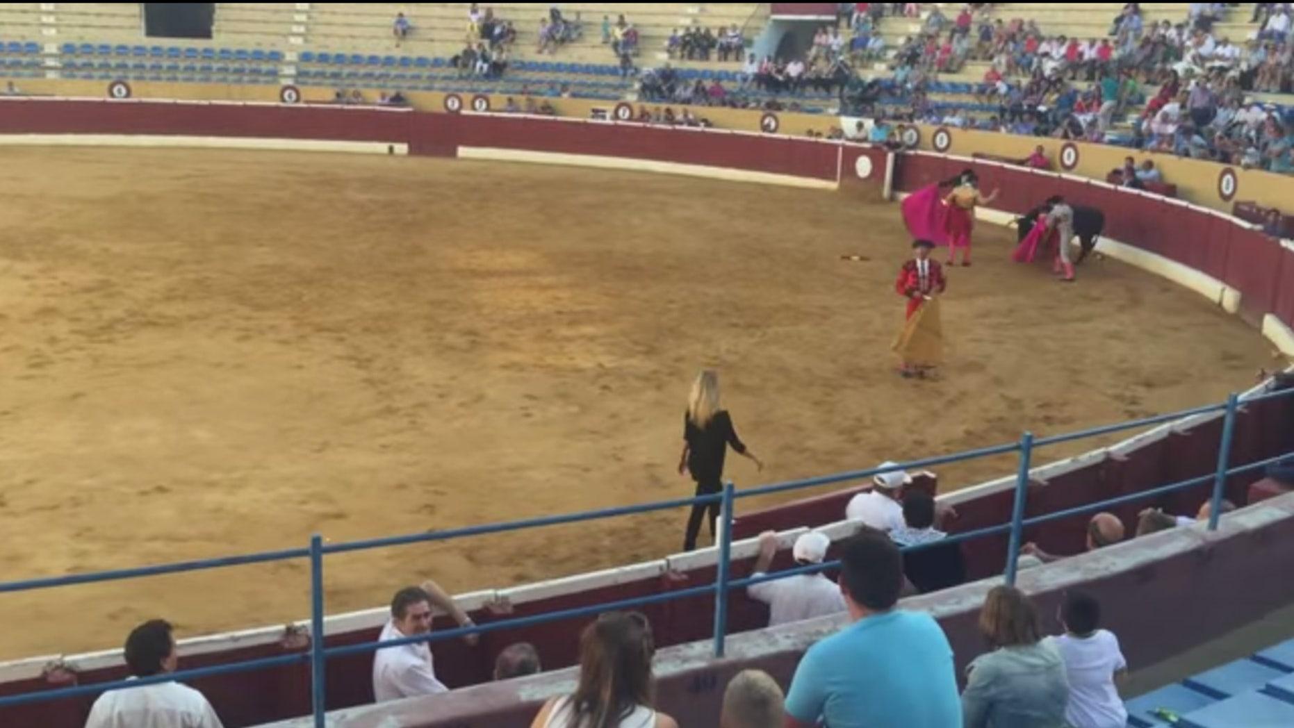 Swedish Porn Star Jumps Into Spanish Bullfighting Ring To -7562