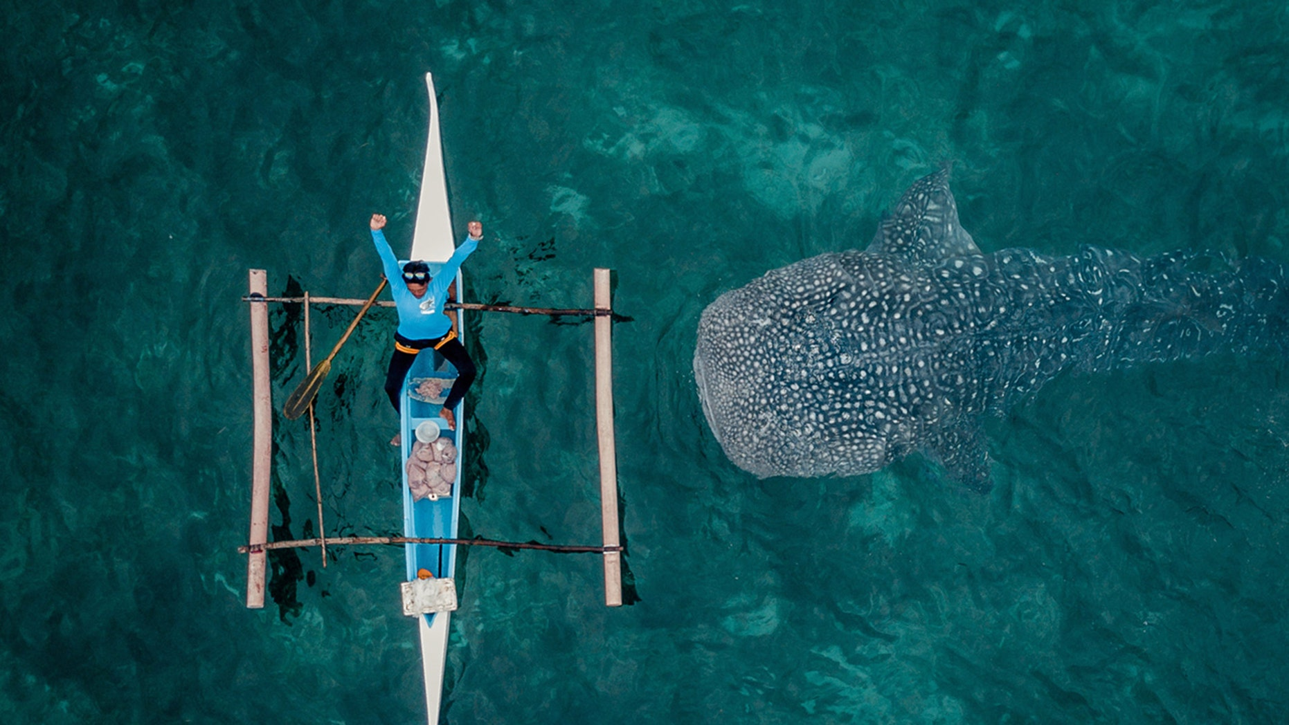 Photographer Dimitar Karanikolov took 200 shots with his drone-mounted camera before he captured the pic.