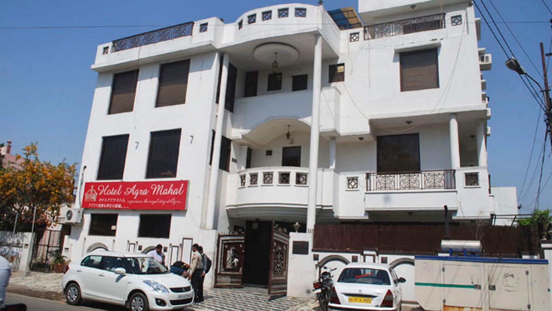 March 19, 2013: The Hotel Agra Mahal is seen in Agra, India. A British woman traveling around India jumped out of the third-floor window of her hotel room on Tuesday after the hotel's owner tried to force his way into the room, causing her to fear she was about to be sexually assaulted, police said. The woman was not badly hurt, although she suffered some injuries to her legs, police officer Sushant Gaur said. Police arrested the hotel owner in connection with the incident in Agra, the site of the Taj Mahal, one of India's most cherished tourist attractions, Gaur said.