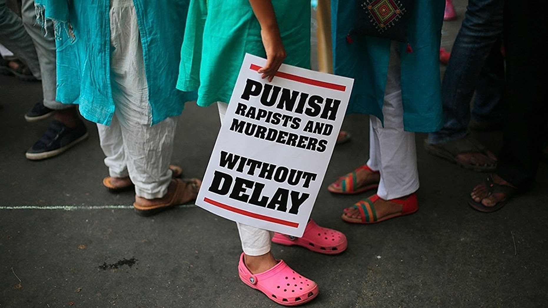 An Indian demonstrator at an April protest in New Delhi against two reported rape cases.