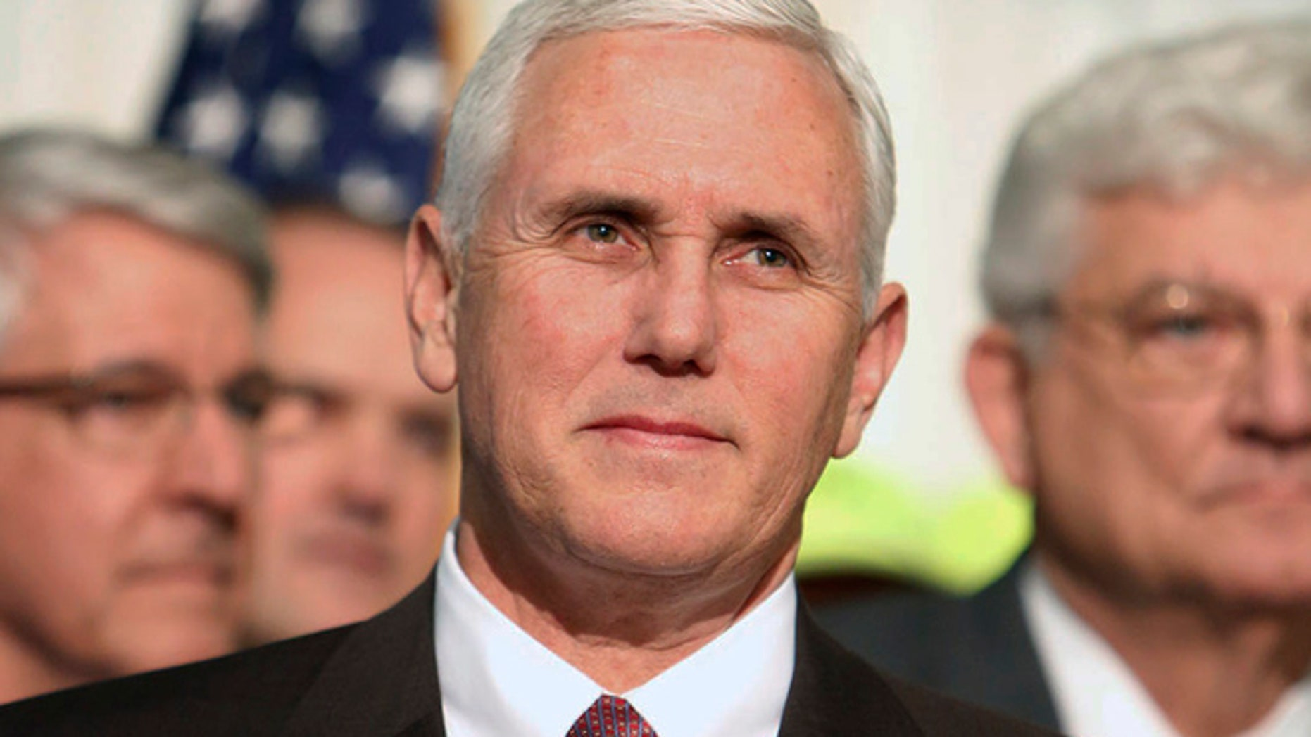 Mar 23, 2016: Indiana Gov. Mike Pence speaks to the media on Wednesday in Fort Wayne.