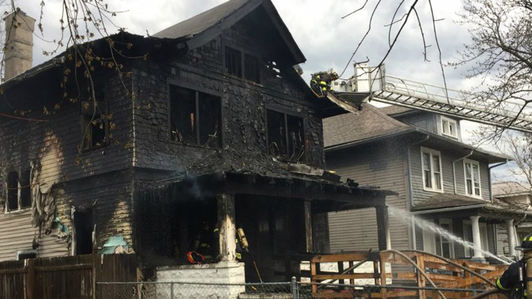 An Indianapolis family saw their home go up in flames and barely escaped with their lives.
