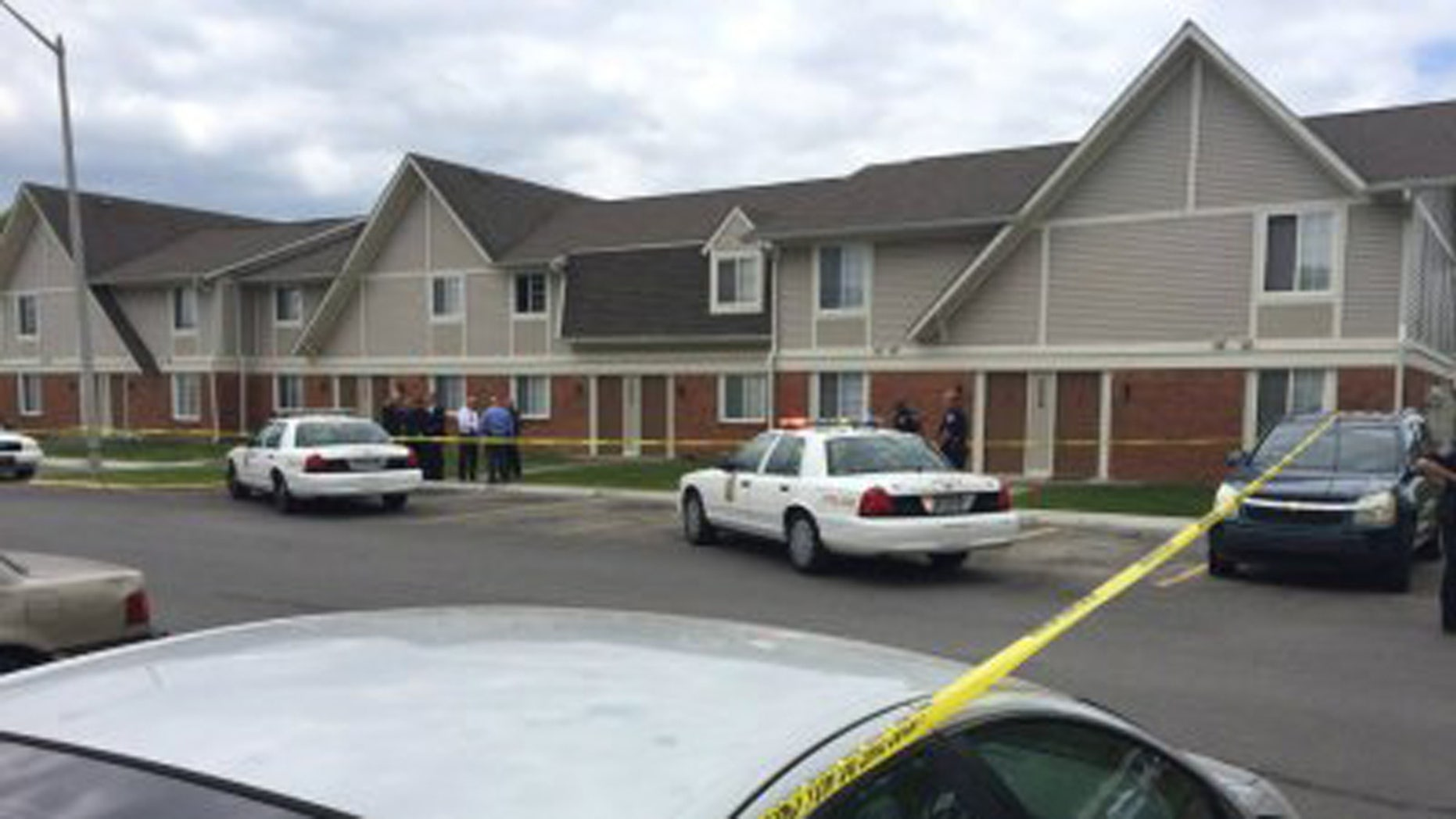 The scene of the shooting in Indianapolis.