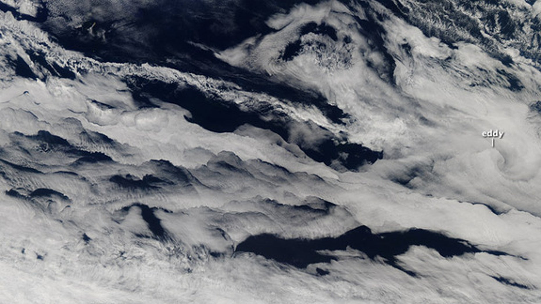 Marine stratocumulus clouds stretched across the southern Indian Ocean in this image taken by NASA's Aqua satellite in early March 2013.