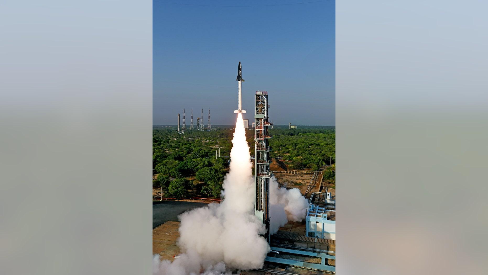 RLV-TD test launch (ISRO).