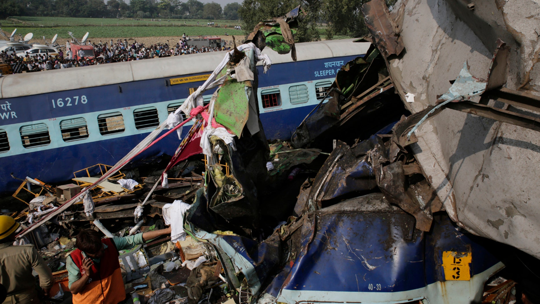 at least 145 killed in india train crash as rescuers scour wreckage