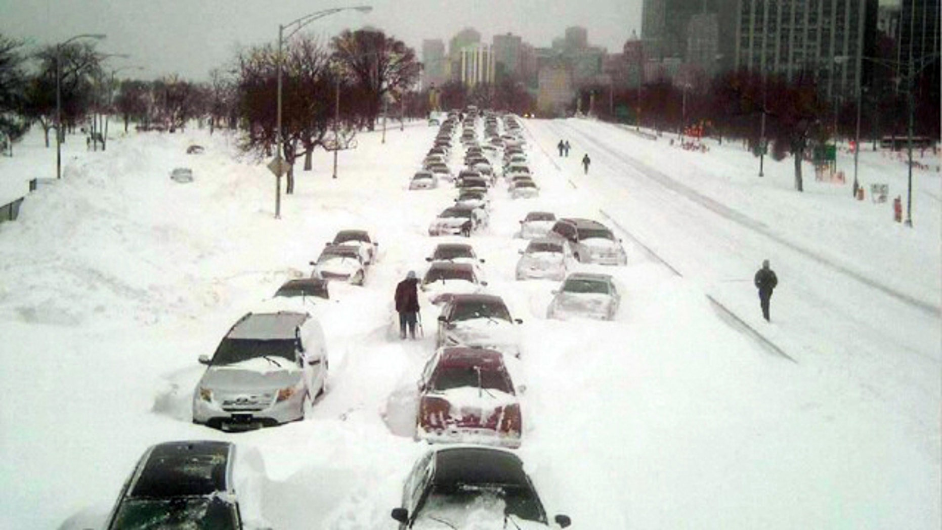 Feb. 2: The massive storm dumped 20.2 inches of snow on Chicago, making it the city's third largest storm on record.