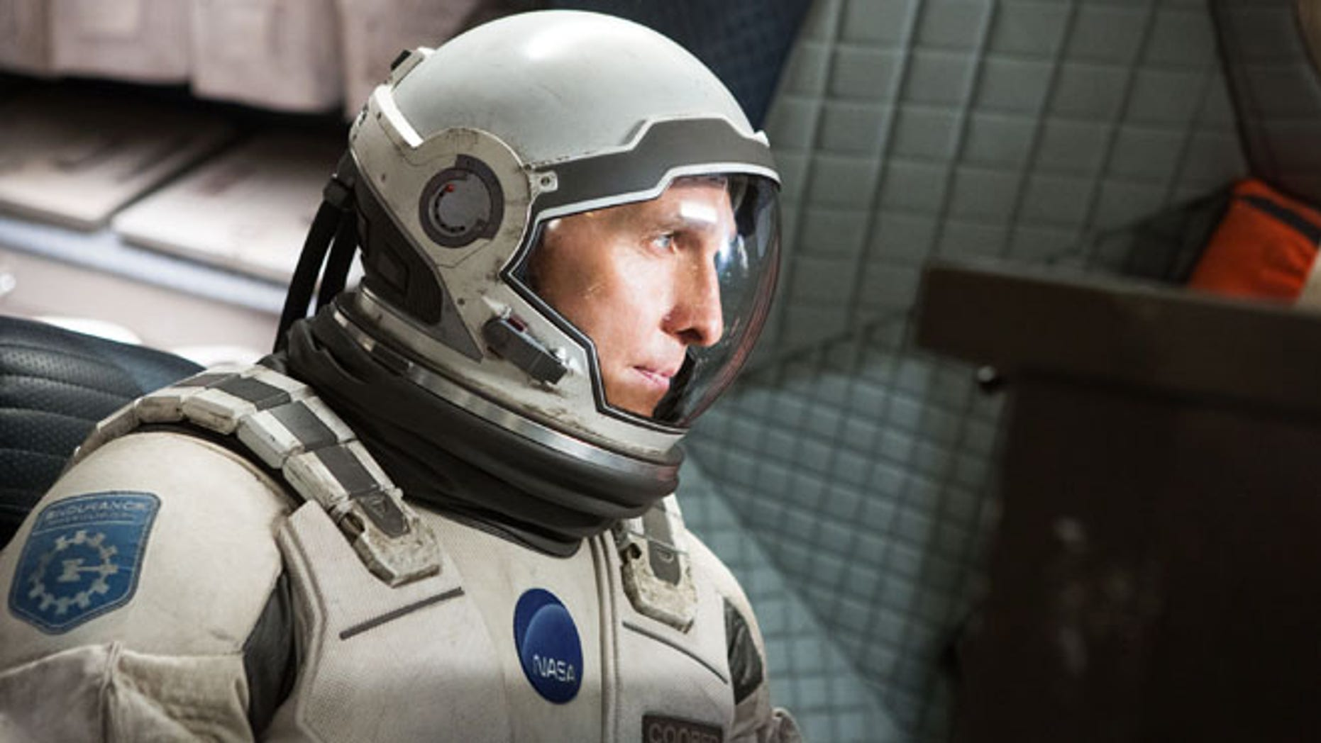 "This photo released by Paramount Pictures shows, Matthew McConaughey, in a scene from the film, '""Interstellar,"" from Paramount Pictures and Warner Brothers Pictures, in association with Legendary Pictures."