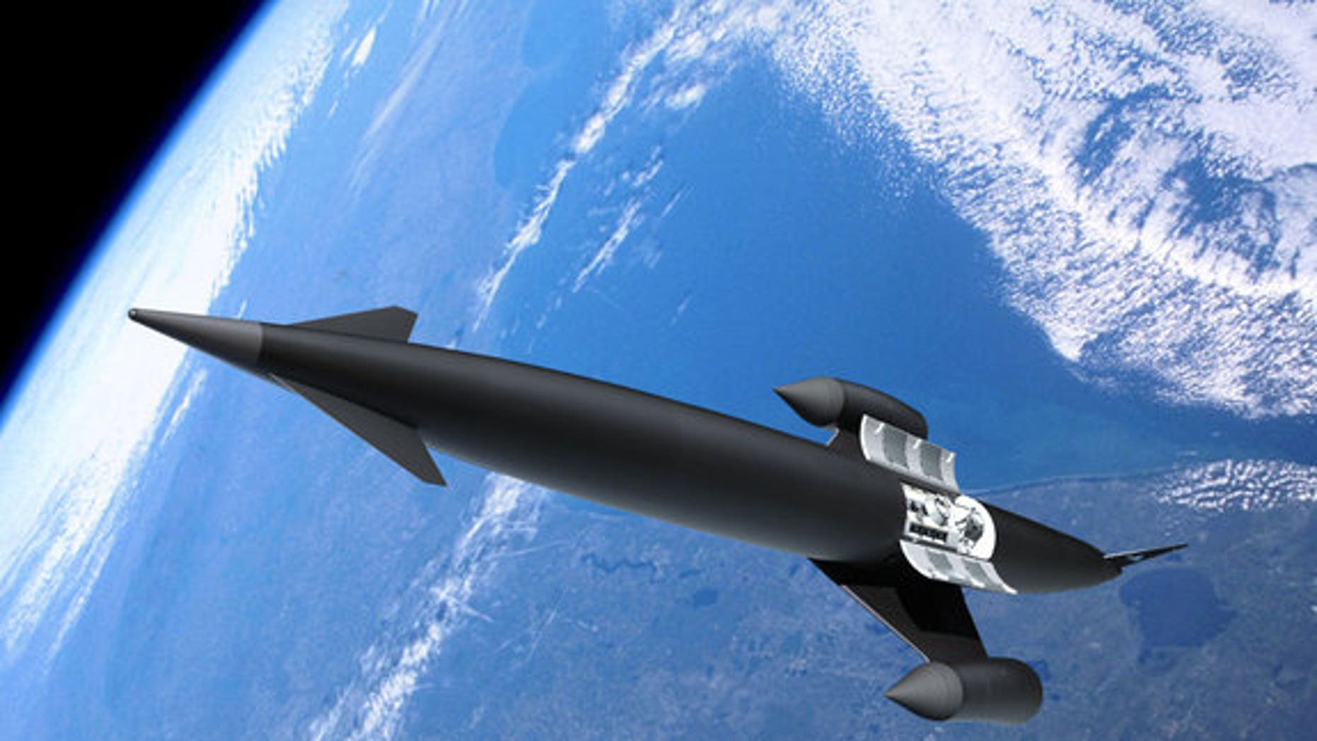 This artist's illustration depicts the Skylon concept vehicle.