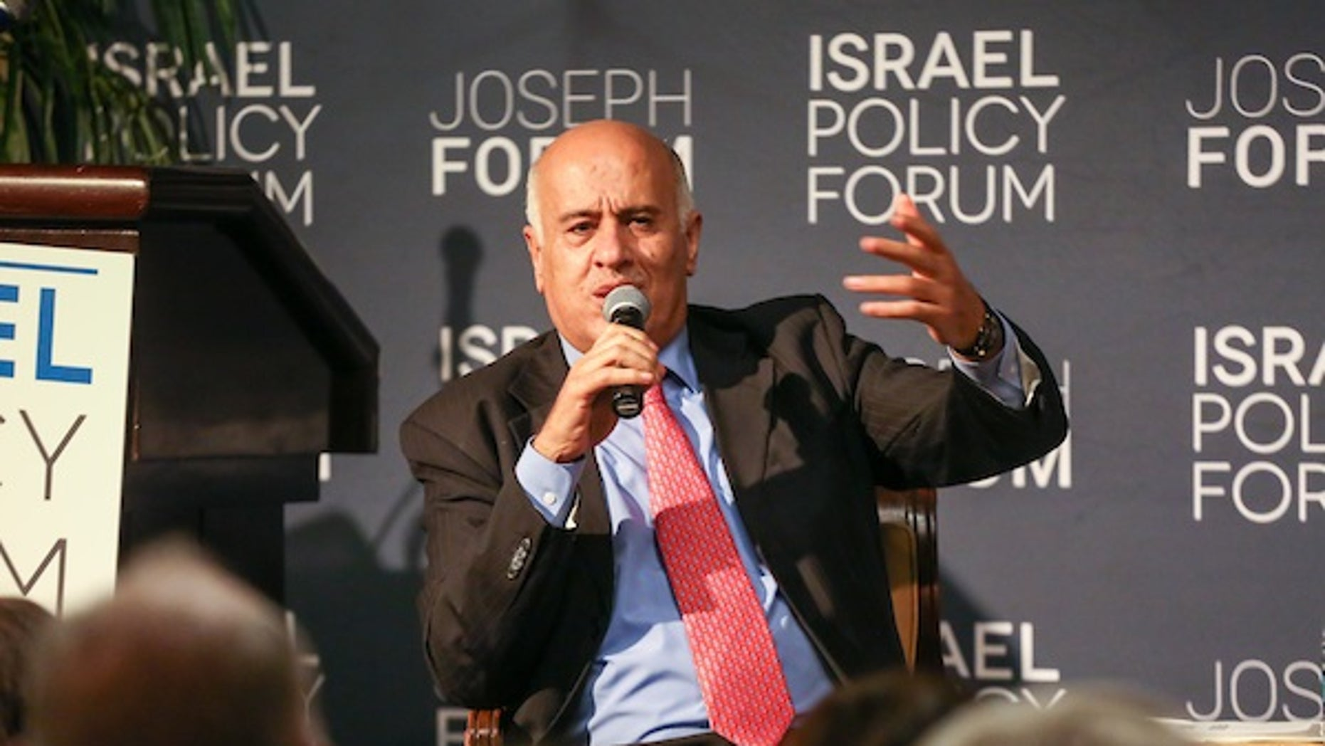 Controversial Palestinian Authority leader Jibril Rajoub at the Israel Policy Forum