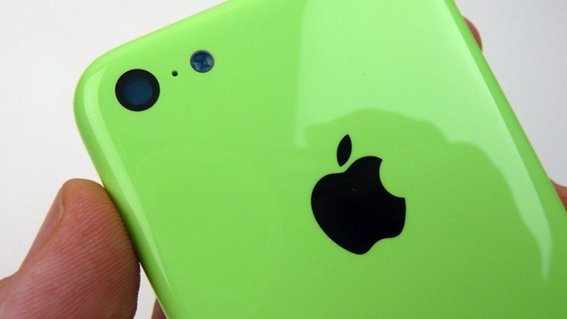 "The brightly colored housing of an iPhone 5C -- according to <a href=""http://www.sonnydickson.com/2013/08/11/gallery-green-iphone-5c-back-housing/"">Apple enthusiast Sonny Dickson</a>."