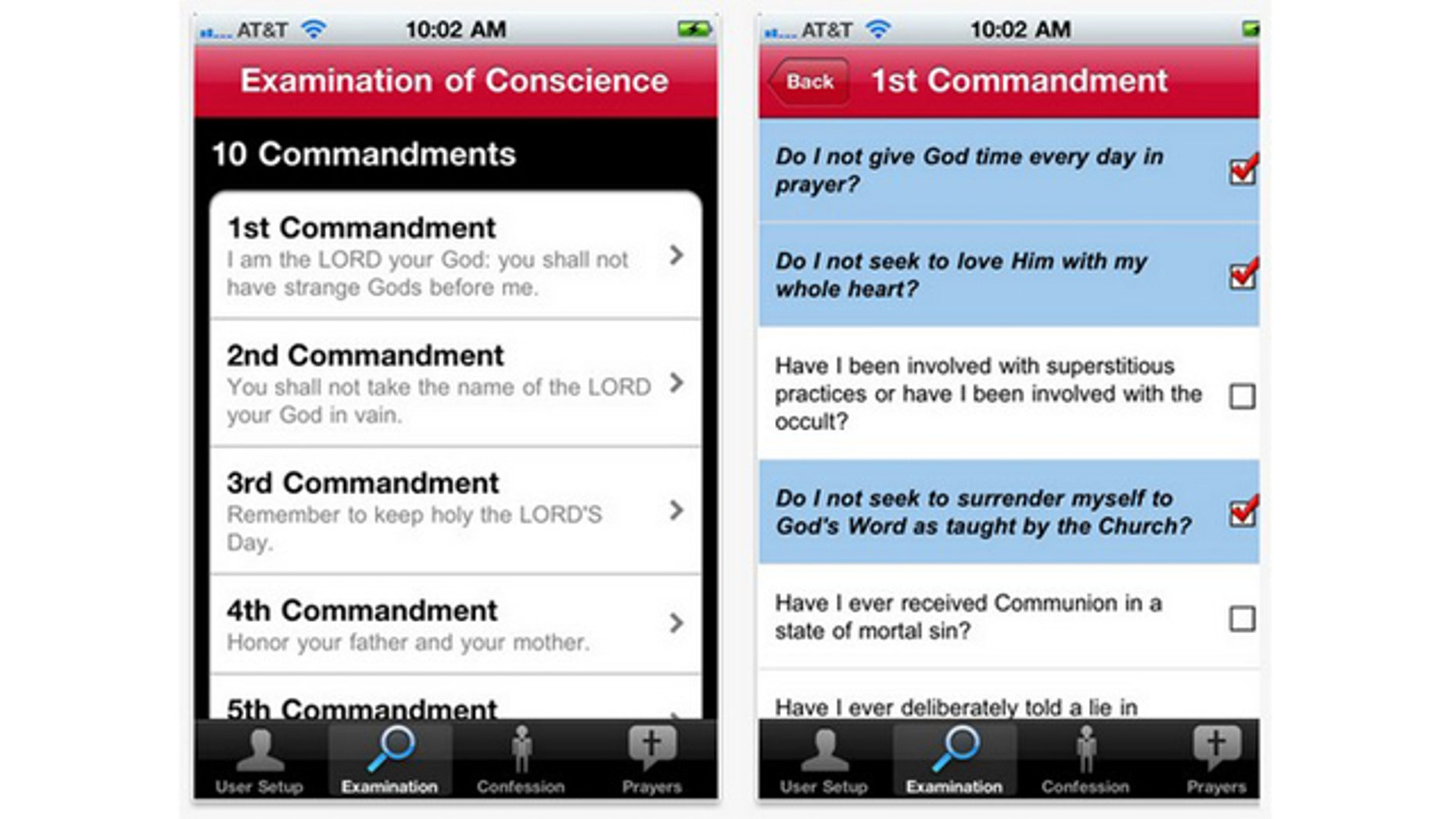 A new app for the iPhone is intended to help Catholics through the act of confession.